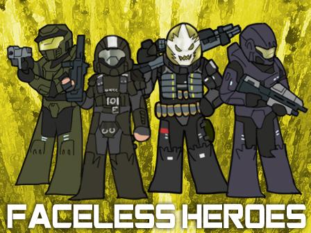 Faceless Heroes by GRANDBigBird