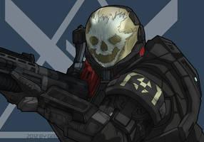Emile from Halo Reach by GRANDBigBird