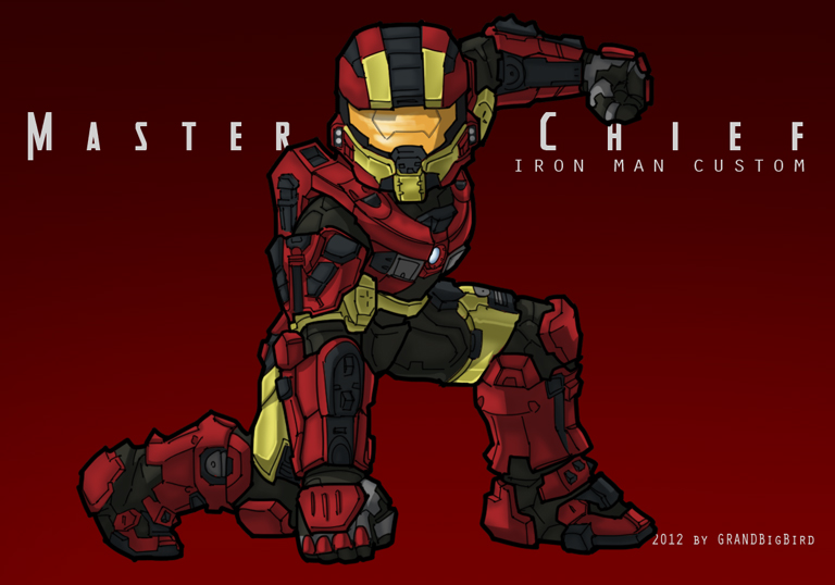 Master Chief - Iron Man Custom by GRANDBigBird