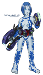 Cortana Gears Up! by GRANDBigBird