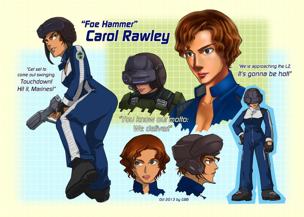 ''Foe Hammer'' Carol Rawley by GRANDBigBird