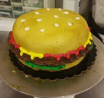 Burger Cake by SonicRose