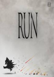 RUN -Bloodborne fanart by Pureadimelograno