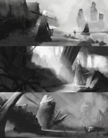 Landscape sketches are back by Pureadimelograno