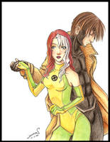 Rogue and Gambit by Kalmia