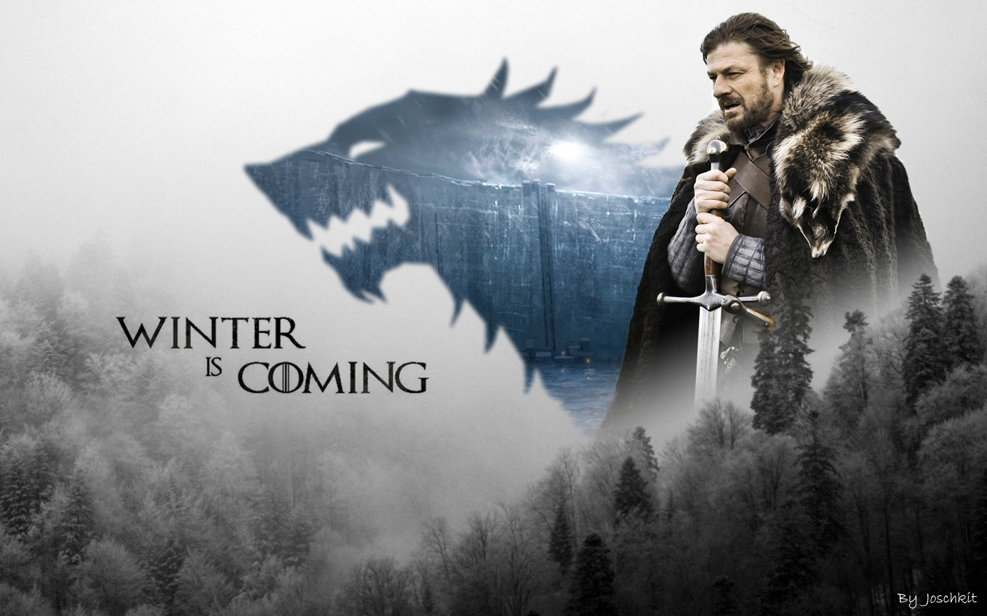 Game Of Thrones Wallpaper Eddard Stark By Joschkit On Deviantart