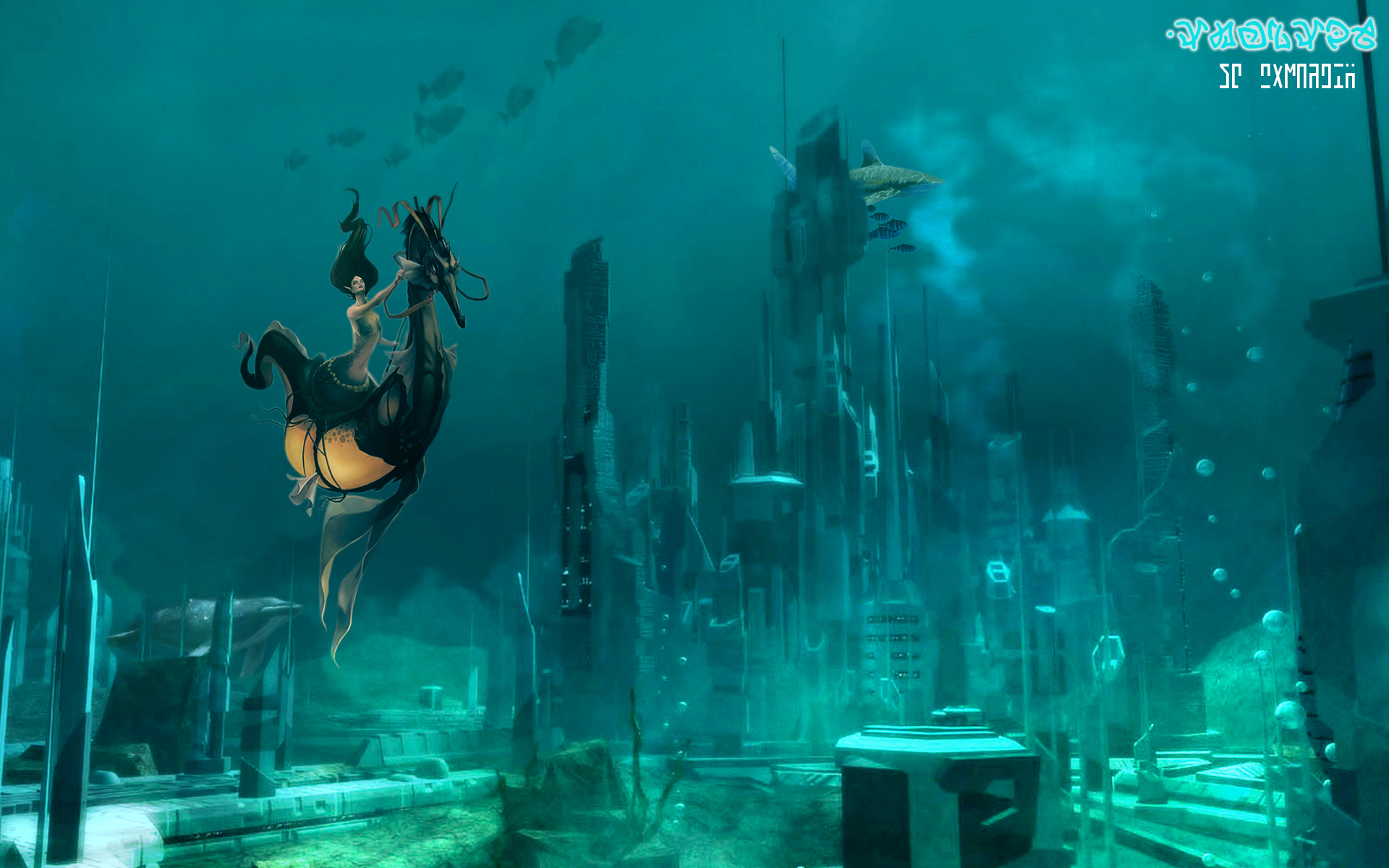 Atlantis The Lost City Wallpaper By Joschkit