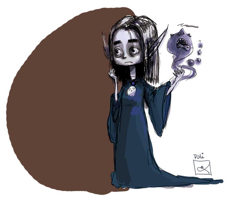 sketch diosa del inframundo (en entrenamiento) by puly123456