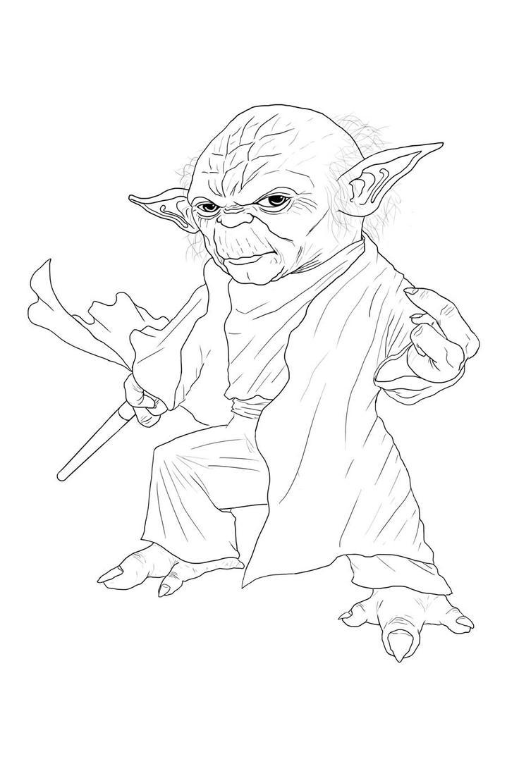 Line Drawing Yoda : Yoda lineart by mmasamune on deviantart