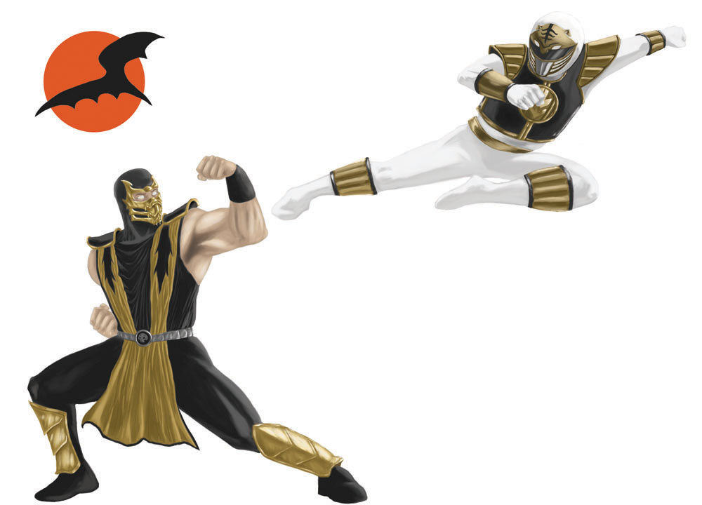 Scorpion vs White Ranger by mmasamun3