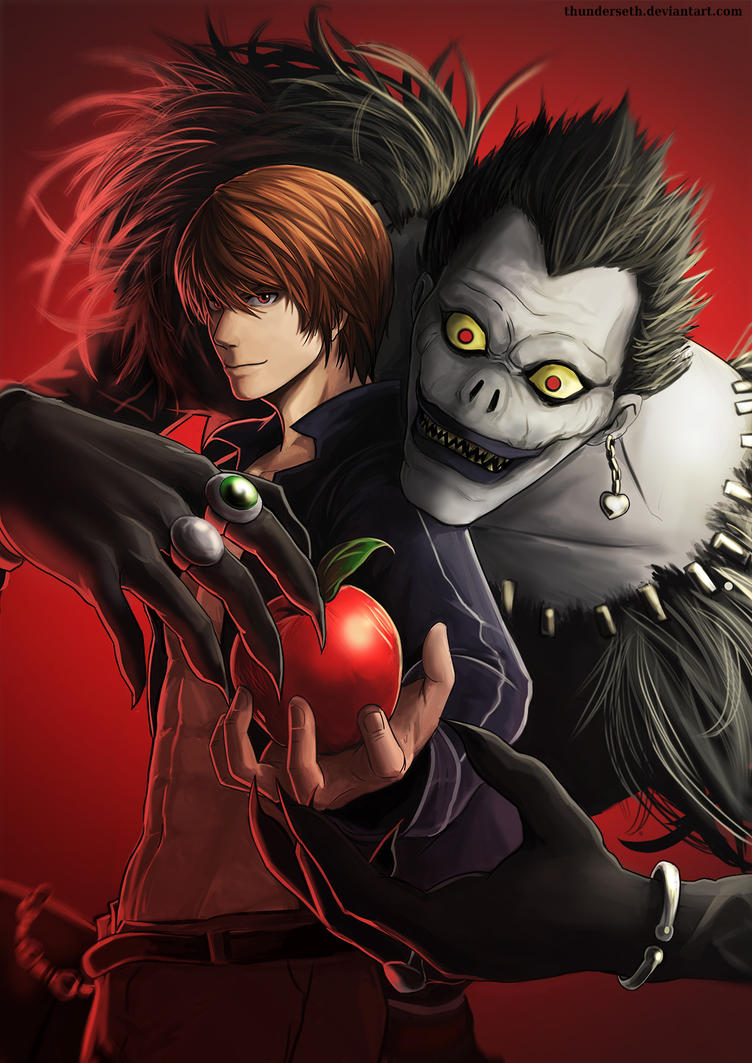 L and Light Death Note Wallpaper 30722  Anon Craft