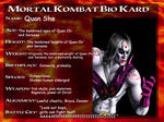 Mortal Kombat OC Quan She Bio Kard
