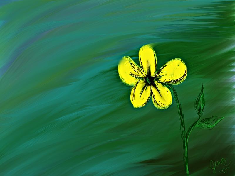 Little Yellow Flower Wallpaper