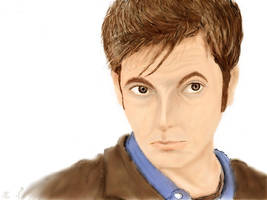 The Tenth Doctor by MidknightStarr