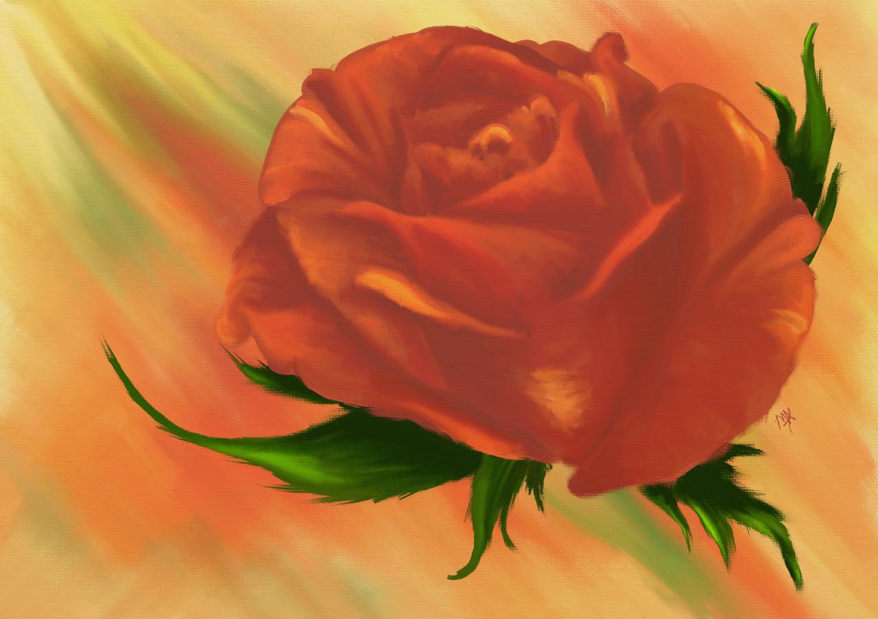 Vintage Rose by MidknightStarr