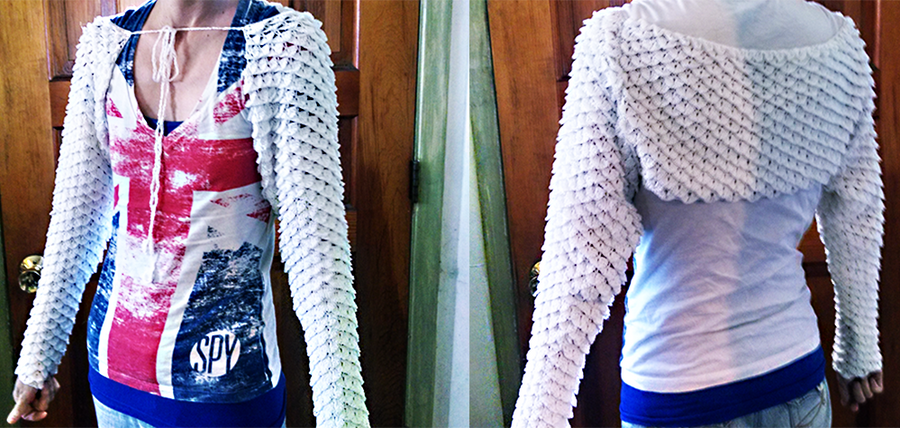Dragon Scale Shrug - Pattern for Purchase by MidknightStarr