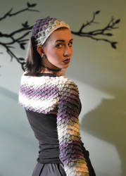 Dragon Scale Shrug and Head Kerchief - Patterns