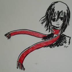Rolling Girl, Mikasa by georg-ia