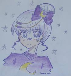 [OC] Luna Headshot by georg-ia