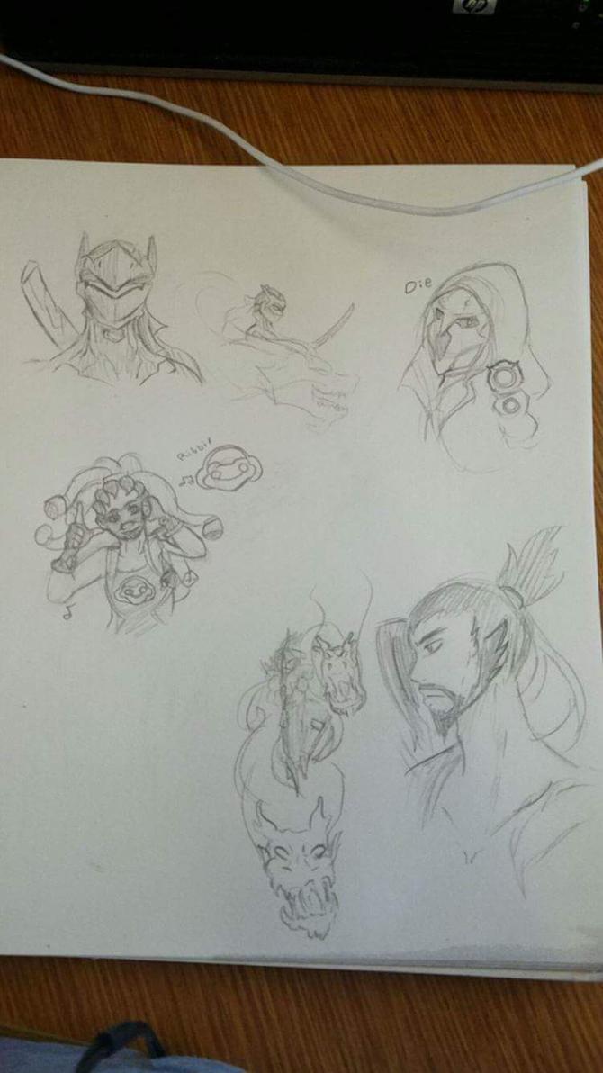 Overwatch Doodles by Jennifer0012