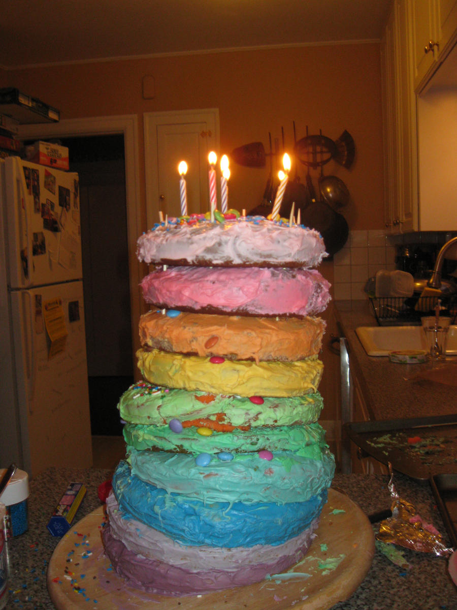 3 Layer Birthday Cake Images Dmost For