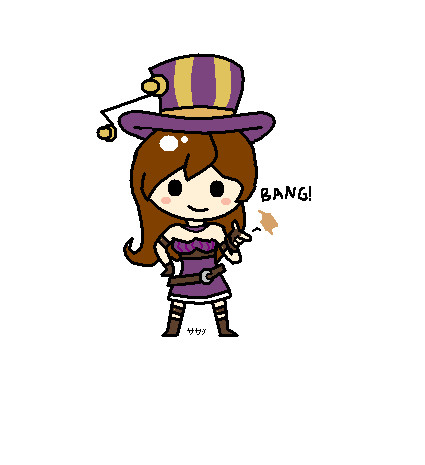 League of Legends - Caitlyn Chibi by sakashiiii on DeviantArt