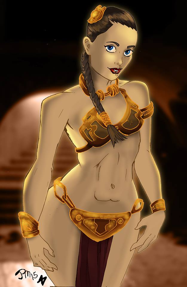 Slave Leia Colored by norrit07