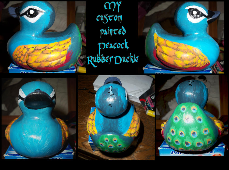Peacock Rubber Duckie by Tal-Ki