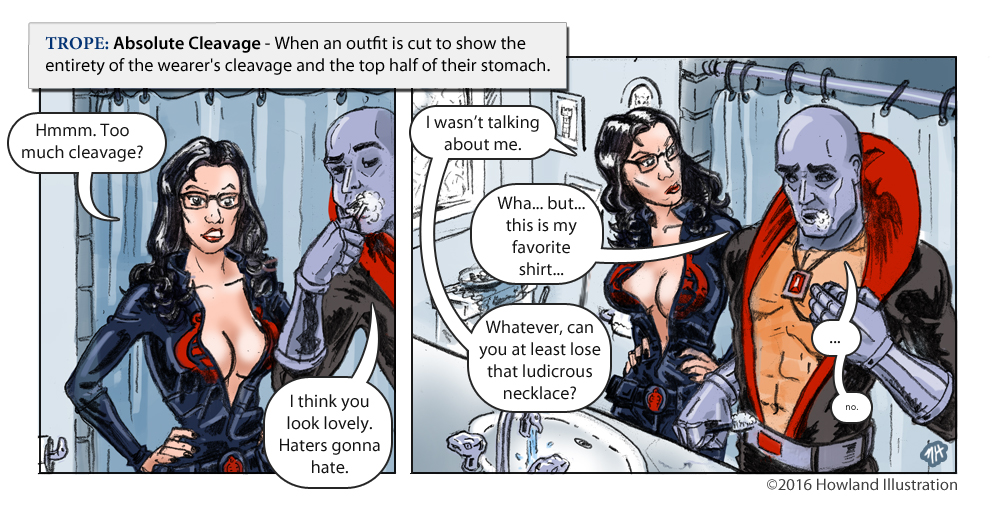 twisted tropes absolute cleavage by mikehowland on