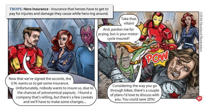 Twisted Tropes - Hero Insurance