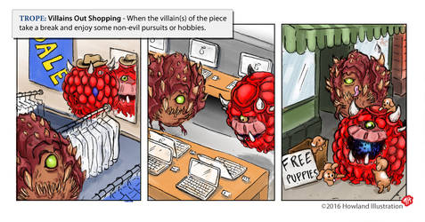 Twisted Tropes - Villains Out Shopping by MikeHowland