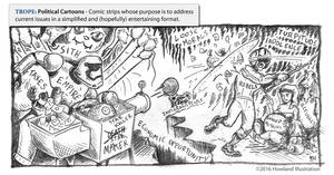 Twisted Tropes Political Cartoons