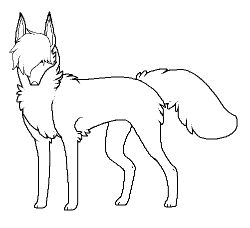 emo wolf lineart by ex00t