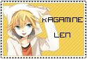Vocaloid Kagamine Len Stamp by Panajandro