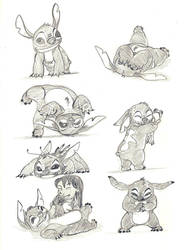 Stitch sketches by Stingdragon