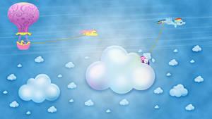 Chasing Rainbow Dash wallpaper