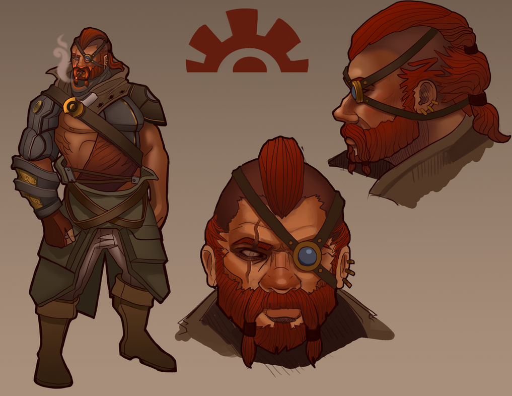 Engineer character design by Scrappex