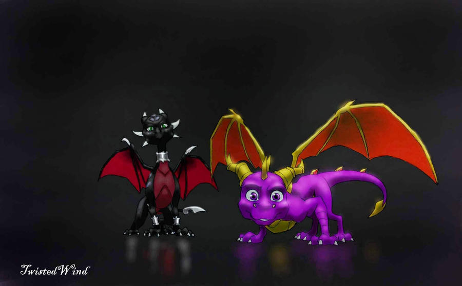 Spyro And Cynder Wallpaper By Twisted Wind