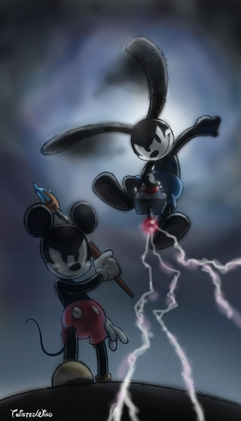 Epic Mickey power of two by twisted-wind