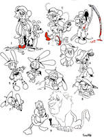 disney Oz sketches and ideas by twisted-wind