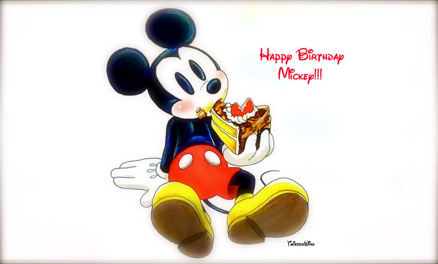 Happy Birthday Mickey By Twisted Wind On Deviantart Mickey Mouse Wishing Happy Birthday