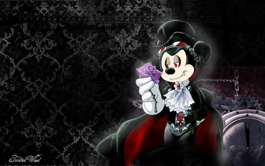 steampunk goth Mickey Mouse wallp by twisted-wind
