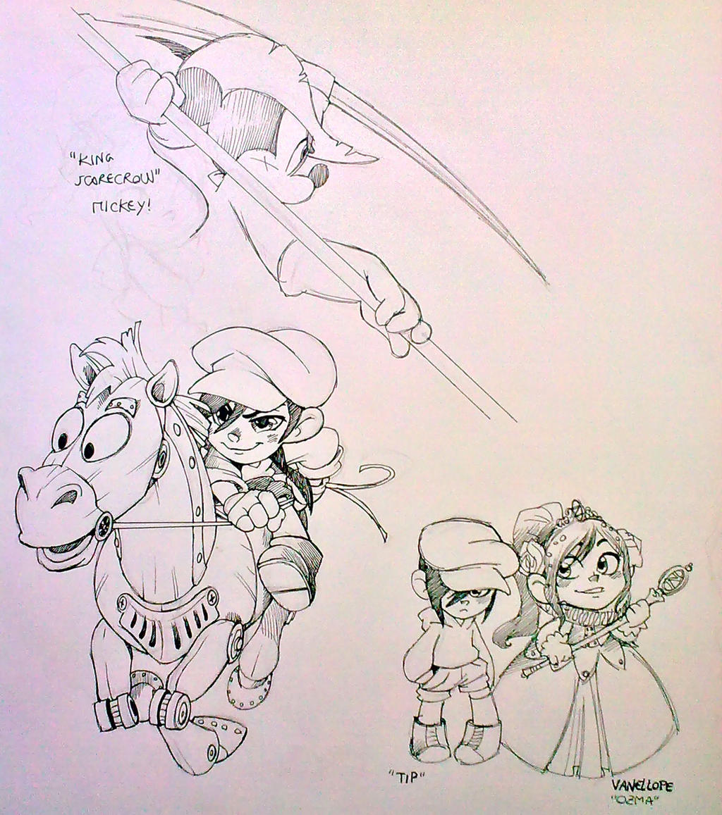 new Oz sketches by twisted-wind