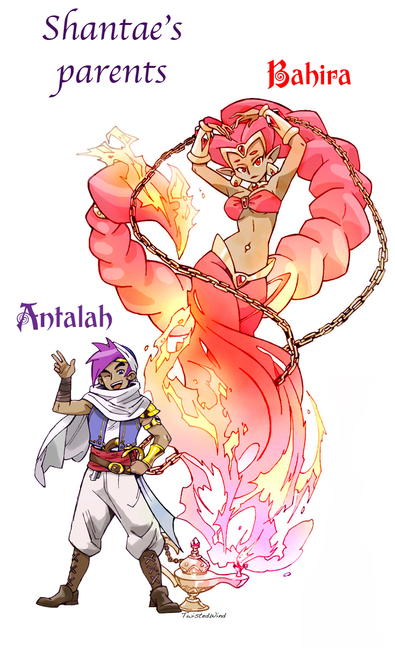 the Fire Genie and the Adventurer