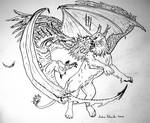 dragon versus griffin