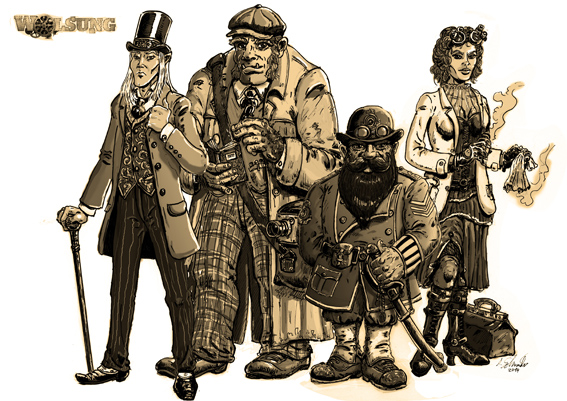 Steampunkcharacter by develino