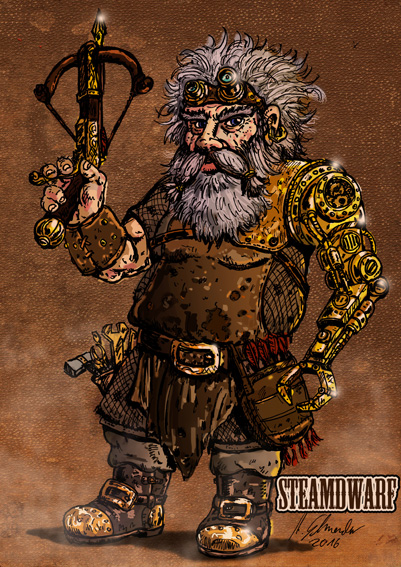 The Steam-Dwarf by develino