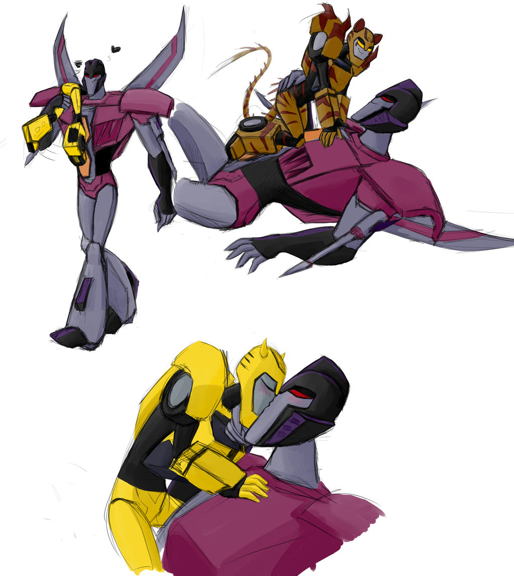 transformers animated megatron and starscream relationship