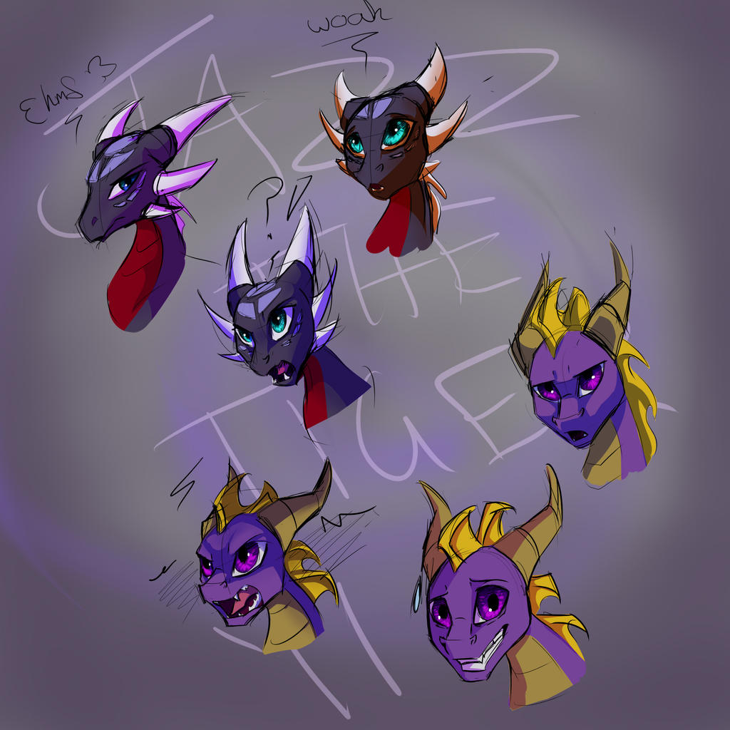 spyro and cynder animated by jazzthetiger on deviantart