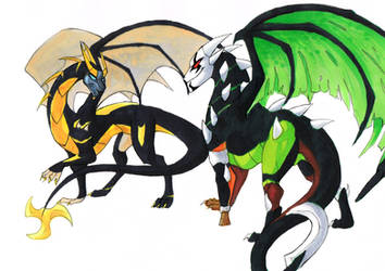 Dragonformers: Lockdown Vs Prowl by JazzTheTiger
